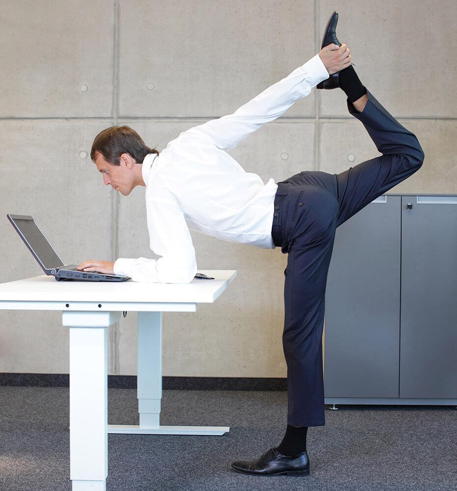 Rücken fit trotz Bürojob