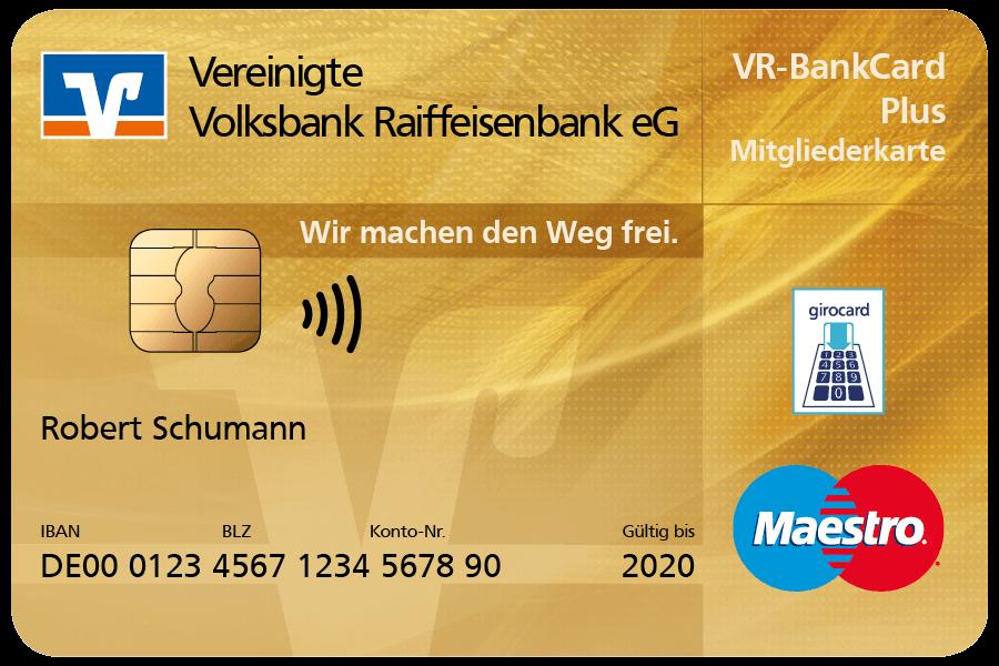 VR-BankCard Plus – unsere neue Mitgliederkarte